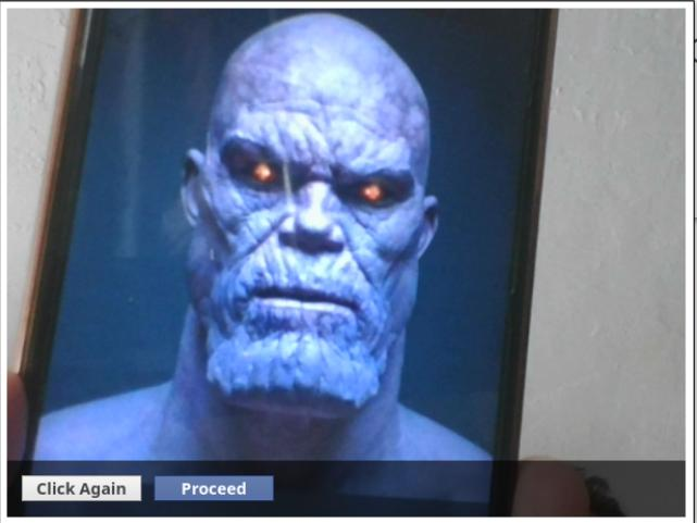 NLAT software facial recognition clears Thanos on a phonescreen to take the NLS mock exam