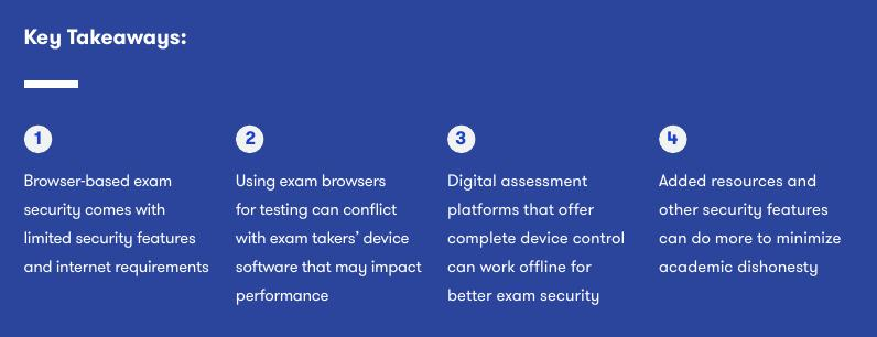 Why online browsers are apparently not good enough for online exams (via ExamSoft marketing presentation)