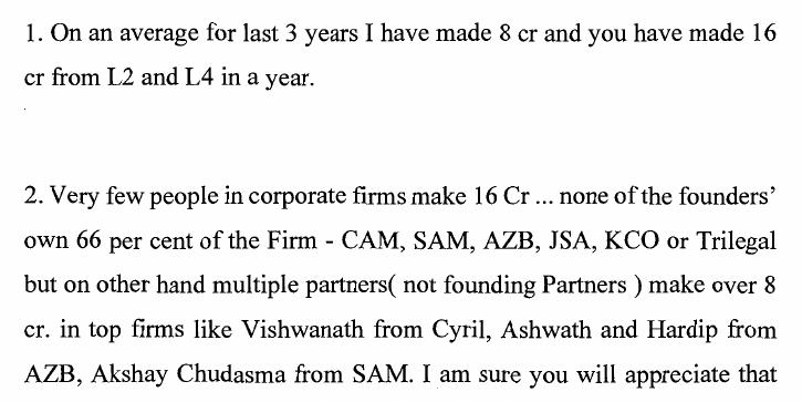 From a WhatsApp conversation annexed to the court pleadings in the dispute between the two equity partners