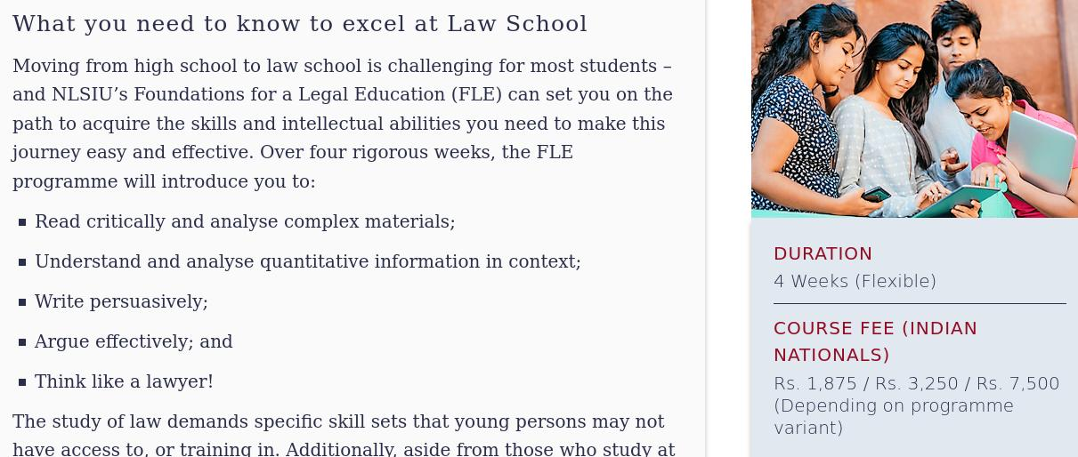 NLS promises to set 10th+ student on path to law (via official website)