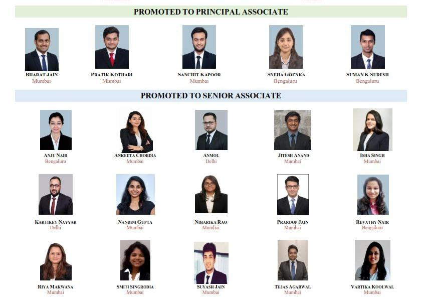 Associate promotions at IC Universal